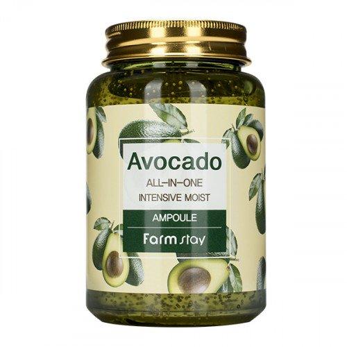 Багатофункціональна сироватка з екстрактом авокадо FarmStay Avocado All-In-One Intensive Moist Ampoule