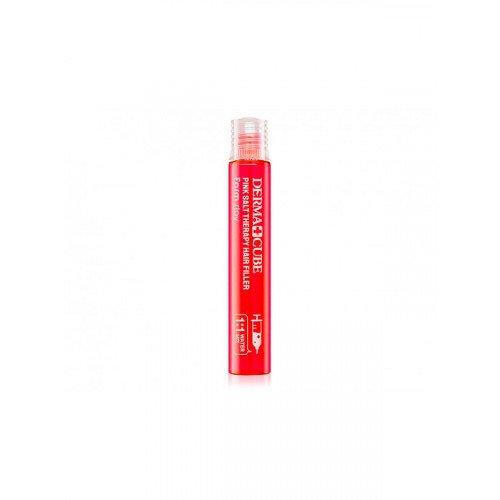 Зміцнюючий філлер з рожевою сіллю для волосся FarmStay Derma Cube Pink Salt Therapy Hair Filler