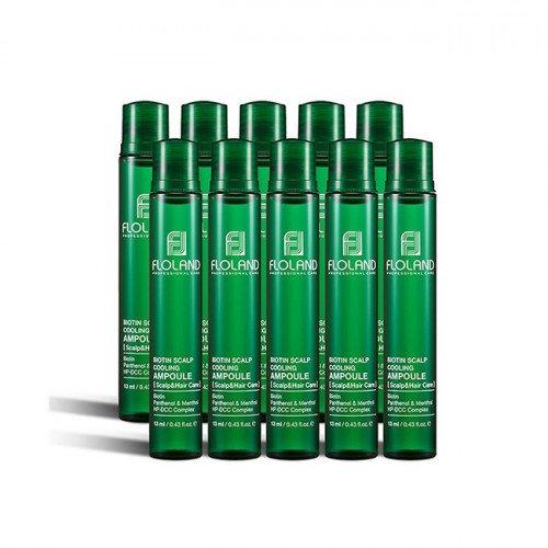 Успокаивающий филлер для волос с биотином Floland Biotin Scalp Cooling Ampoule