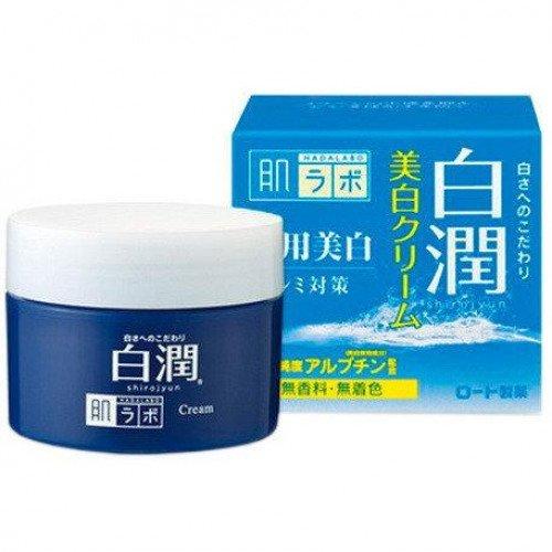 Отбеливающий крем с арбутином HADA LABO Shirojyun Medicated Whitening Cream