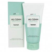 Мягкая очищающая пена с pH 5.5 Heimish All Clean Green Foam
