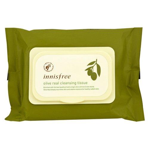 Очищающие салфетки Innisfree Olive Real Cleansing Tissue