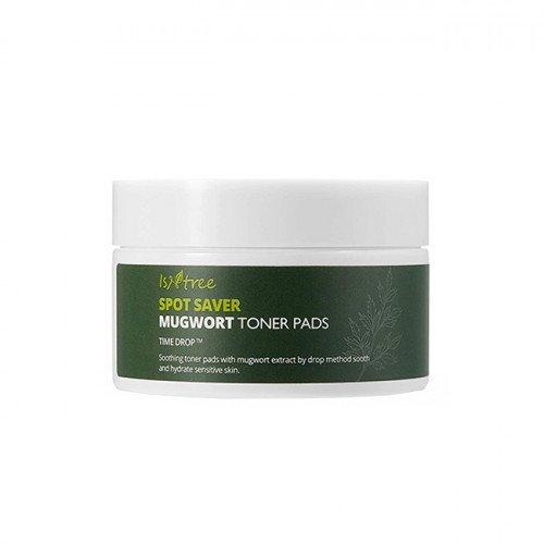 Заспокійливі педи для чутливої шкіри з екстрактом полину Isntree Spot Saver Mugwort Toner Pads