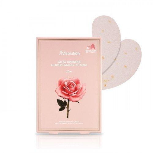 Зволожуючі патчі під очі з екстрактом троянди JM Solution Glow Luminous Flower Firming Eye Mask Rose