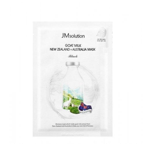 Тканевая маска с козьим молоком JMsolution Goat Milk New Zealand + Australia Mask Black