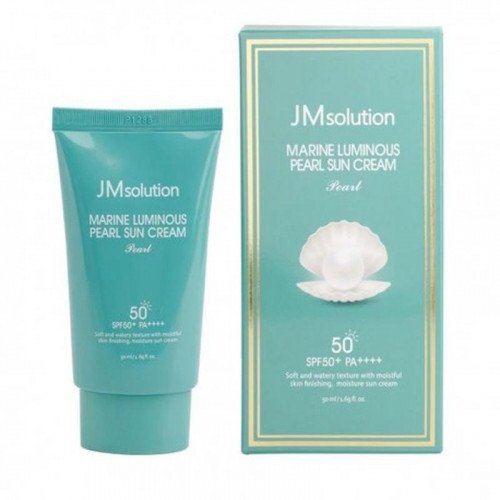 Зволожуючий сонцезахисний крем JM Solution Marine Luminous Pearl Sun Cream SPF50 PA ++++