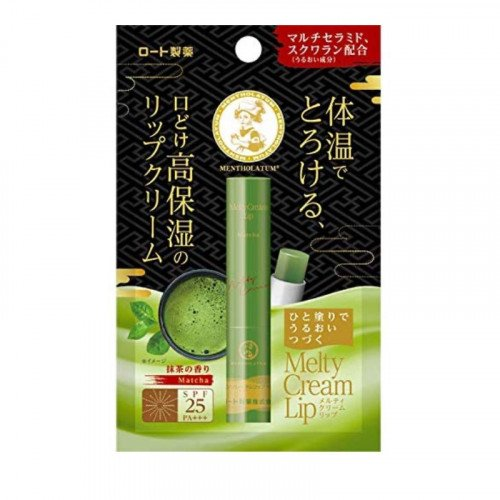 Зволожуючий бальзам-крем для губ Mentholatum Melty Cream Lip Matcha Tea SPF25/PA +++