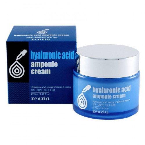 Увлажняющий крем Jigott Zenzia Hyaluronic Acid Ampoule Cream