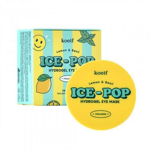 Гідрогелеві патчі для очей з лимоном та базиліком KOELF Lemon & Basil Ice-Pop Hydrogel Eye Mask