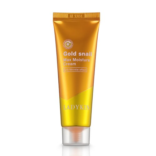 Антивозрастной крем с муцином улитки LadyKin Gold Snail Max Moisture Cream
