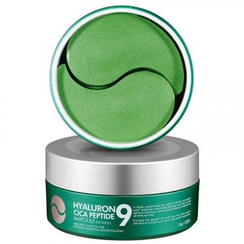 Успокаивающие гидрогелевые патчи с экстрактом центеллы и пептидами MEDI-PEEL Hyaluronic Cica Peptide 9 Ampoule Eye Patch