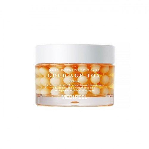 Антивозрастной капсульный крем с экстрактом золотого шелкопряда MEDI-PEEL Gold Age Tox Cream