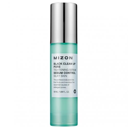 Кислотная сыворотка Mizon Black Clean Up Pore Tightening Serum