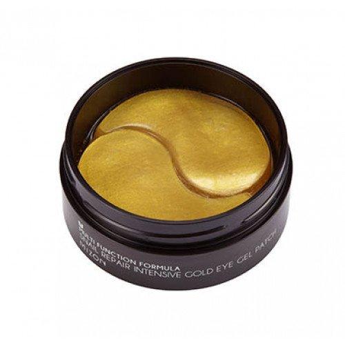 Гидрогелевые патчи с экстрактом улитки и золотом Mizon Intensive Gold Eye Gel Patch