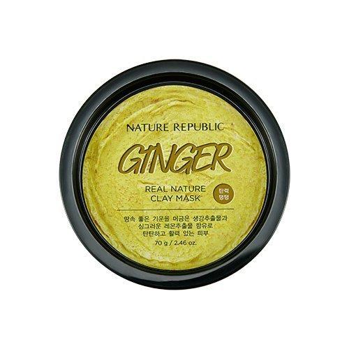 Очищающая и осветляющая маска-скраб с имбирём и лимоном Nature Republic Real Nature Clay Mask Ginger & Lemon
