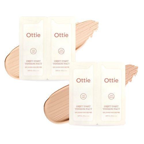 Двойной тестер кушона Ottie Barcode Design Objet D'art Tension Pact SPF50+/PA++++ Tester