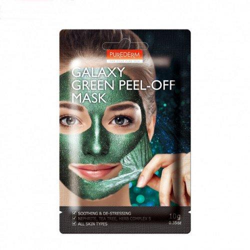 Успокаивающая маска-пленка Purederm Galaxy Green Peel-off mask