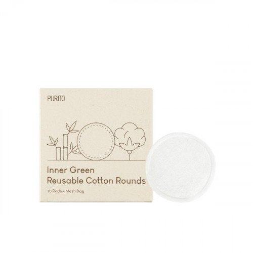 Багаторазові бавовняні диски Purito Inner Green Inner Green Reusable Cotton Rounds