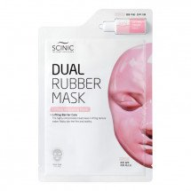 Двухэтапная лифтинг маска для лица Scinic Dual Rubber Mask Lifting Wrapping Mask