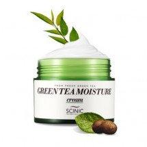 Увлажняющий крем с экстрактом зеленого чая Scinic Green Tea Moisture Cream