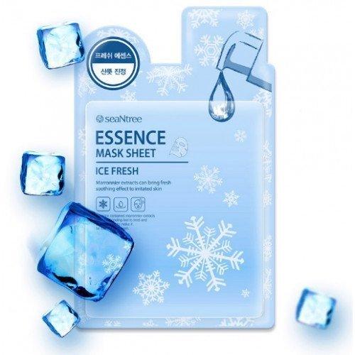 Успокаивающая и снимающая отечность тканевая маска для лица SeaNtree Ice Fresh Mask Sheet