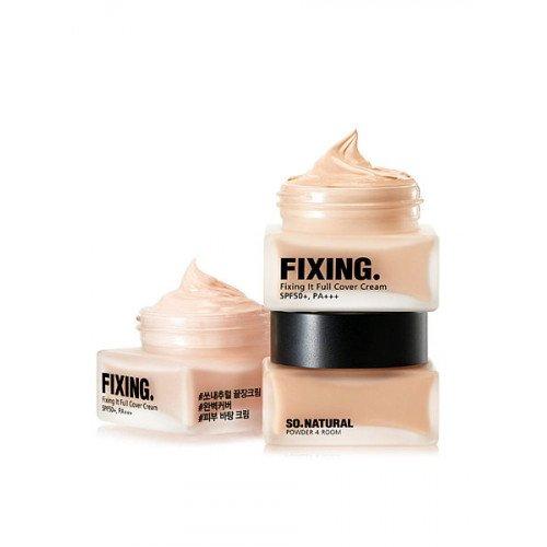 Успокаивающая тональная основа So Natural Fixing It Full Cover Cream SPF50+PA+++