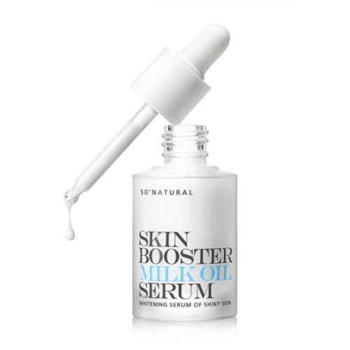 Осветляющая сыворотка-бустер So Natural Skin Booster Milk Oil Serum