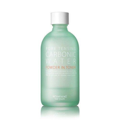 Освежающий и очищающий тонер So Natural Pore Tensing Carbonic Water Powder In Toner