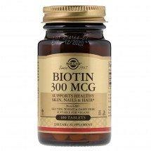 Витамины для кожи, ногтей и волос Solgar Biotin 300 мкг
