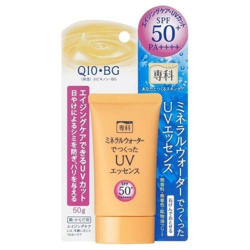 Солнцезащитная эссенция Shiseido Senka Q10 Mineral Water UV Essence SPF50+/PA++++