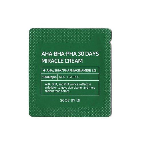 Пробник крему для проблемної шкіри Some By Mi AHA-BHA-PHA 30 Days MIRACLE Cream Sample