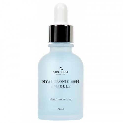 Глубокоувлажняющая сироватка з гіалуроновою кислотою The Skin House Hyaluronic 6000 Ampoule