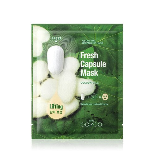 Маска для лица с экстрактом шелка The Oozoo Fresh Capsule Mask Cocoon Silk