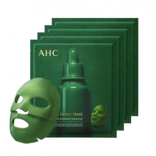 Зелёная  маска для лица AHC Deep Care Wrapping Green Mask