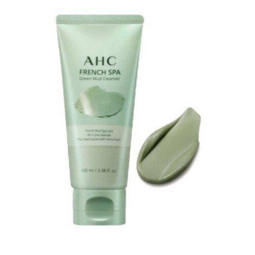 Очищаюча СПА маска-пінка з французькою зеленою глиною A.H.C French Spa Green Mud Cleanser, 100 мл