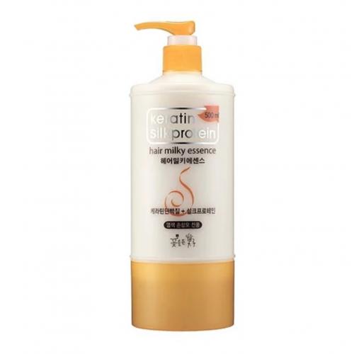 Укрепляющая молочная эссенция для волос Cosmocos Keratin Silkprotein Hair Milky Essence
