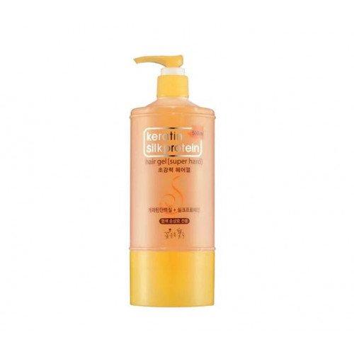 Гель для сильной фиксации Cosmocos Keratin Silkprotein Super Hard Hair Gel