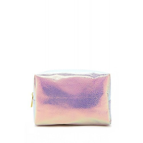 Косметичка Forever21 Holographic Medium Pink Makeup Bag
