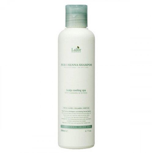 Укрепляющий шампунь с хной La'dor Pure Henna Shampoo