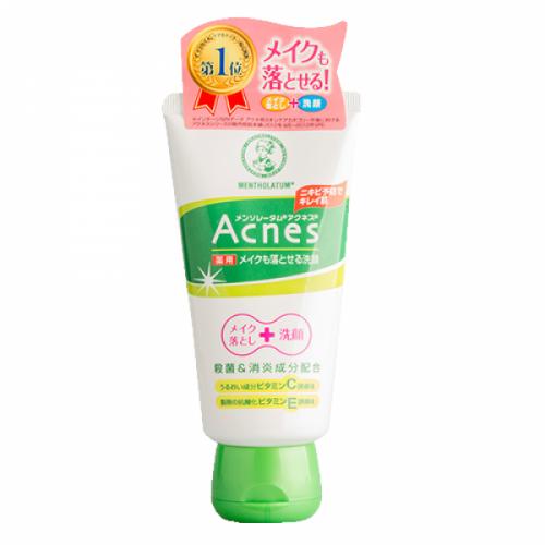 Гель для очищення проблемної шкіри і зняття макіяжу Mentholatum Acnes Makeup Remover