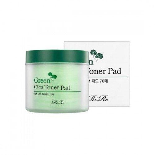 Заспокійливі пілінг-педи RiRe Green Cica Toner Pad